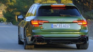 Download 2018 Green Audi RS 4 Avant - 0-100 k/h Acceleration and 450 hp Engine Sound Video