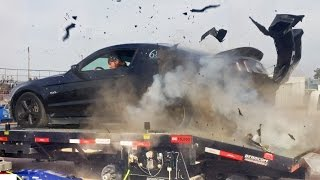 Download Mustang EXPLODES Tire on Dyno at 150MPH! Video