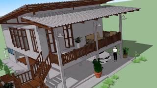 Download บ้านสไตล์ลอฟท์ เพิงหมาแหงนใต้ถุนสูง ( No. 010 ) Sketchup by : i. pakdee Video
