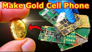 Download How to Turning old Cell Phone into pure gold Make gold from scrap mobile phones Smartphones recovery Video