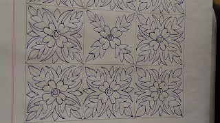 Download Nakshi Kantha Design drawing tutorial131,How to make nakshi kantha, নকশীকাঁথা নকশা, Video