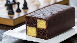 Download Chocolate Almond Battenberg Cake - 4k video Video