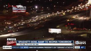 Download Spaghetti Bowl ramp to reopen Wednesday Video