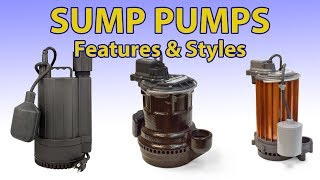 Download Buying Guide for Different Features of Sump Pumps Video