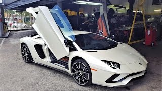 Download 2017 Lamborghini Aventador S LP740-4 LOUD BEAST at lamborghini Miami (Behind Unveiling Scenes) Video