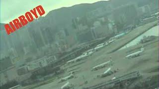 Download Cockpit View Landing Hong Kong Kai Tak Airport (1998) Video