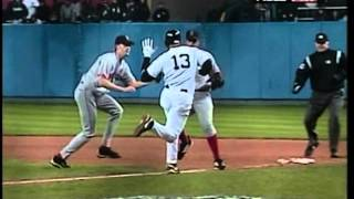 Download A-Rod slaps Bronson Arroyo's glove - Game 6 of the 2004 ALCS Video
