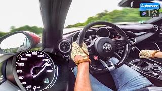 Download Giulia Quadrifoglio (510hp) - 0-300 km/h acceleration (60FPS) Video