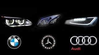 Download HeadLight Technology - BMW Intelligent Headlight Vs Audi Matrix LED Vs Mercedes Multibeam LED Video