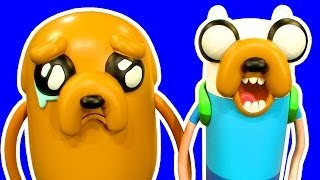 Download Adventure Time !0″ Deluxe Jake 5 Facial Expressions 10″ Finn Mix N Match Fun Video