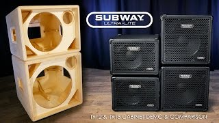 Download MESA® Subway® Ultra-Lite 1x12 & 1x15 Official Cab Demo/Comparison Video