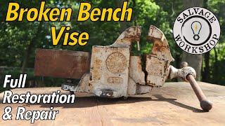 Download Broken Bench Vise ~ RESTORATION & REPAIR Video