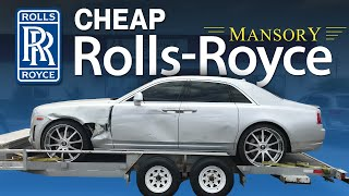 Download REBUILDING A WRECKED ROLLS ROYCE GHOST MANSORY LIVE AUCTION AND PICKING UP THE ROLLS Video