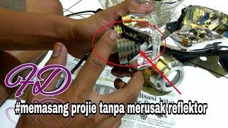 Download Trik memasang lampu projie tanpa merusak REFLEKTOR / MIKA LAMPU . Satria fu 150 cc Video