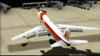 Download FSX [HD] - 747-400 Crazy Landing at the Gate (Contest Winner) Video