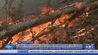 Download NC wildfires burn nearly 46,000 acres Video