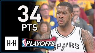 Download LaMarcus Aldridge Full Game 2 Highlights Spurs vs Warriors 2018 Playoffs - 34 Points, 12 Reb Video