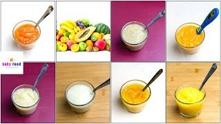 Download 7 Fruit Puree for 4+ & 6+ Months Baby | How to Make Fruit Puree for Baby Video