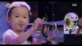 Download 4살 트럼펫 신동@놀라운 대회 스타킹 131109 Video