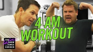 Download James Joins Mark Wahlberg's 4am Workout Club Video