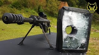 Download Will Bulletproof Glass Stop A .50 Cal? slow motion Video