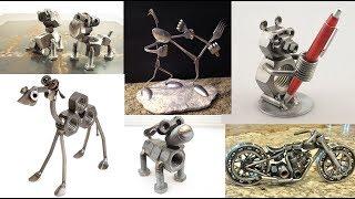 Download Reciclaje Ideas Metales / Tornillos / Cubiertos / Herraduras / Tuercas Video