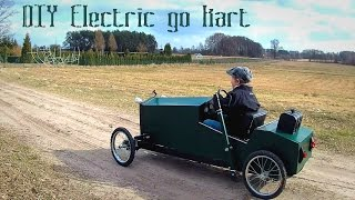 Download Homemade electric go kart for kids in vintage style - DIY build - part 1 Video