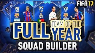 Download FULL TOTY SQUAD BUILDER! w/ 99 Ronaldo, 98 Suarez & 98 Messi! - #FIFA17 Ultimate Team Video