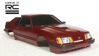 Download Finishing 1/24 RC Mustang Body + Design and Assemble Custom Mock-Up Chassis (E20) Video