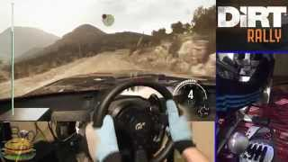Download DiRT Rally simulator (NEW game 2015) - Steering Wheel gameplay Fully Manual, Ultra Graphics. Video