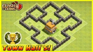 Download Clash of Clans - DEFENSE STRATEGY - Townhall Level 5 Trophy Base Layout (TH5 Defensive Strategies) Video