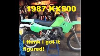 Download 1987 KX500 now we are getting somewhere! Video