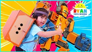 Download Nintendo Labo Build and Control Your Own Giant Robot with Cardboard!!! Video