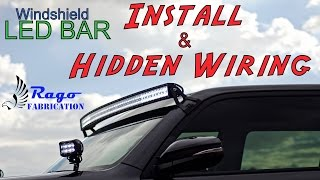 Download 2016 4runner - 50″ curved windshield led bar install and hidden wiring Video