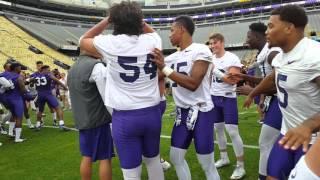 Download LSU Offense vs Defense Dance off Video
