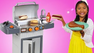 Download Wendy Pretend Cooking with BBQ Grill Toy Video