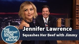 Download Jennifer Lawrence Squashes Her Beef with Jimmy Fallon Video