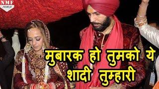 Download जब Twitter पर Harbhajan Singh ने किया Yuvraj-Hazel को specially wish Video