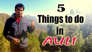 Download 5 Things to do in AULI, Uttarakhand - 2016 | Touring Travellers Video