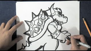 Download como desenhar dragão Bowser Video