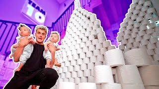 Download 10,000 TOILET PAPER ROLL FORT Video