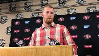 """Download San Francisco 49ers Quarterback C.J. Beathard on 33-30 loss to Green Bay: """"This one hurts the most."""" Video"""
