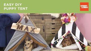 Download No-Sew Pet Tent Video