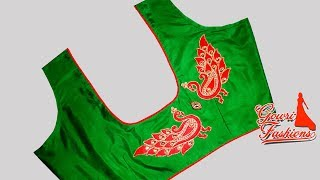 Download Very Easy Designer Blouse With Piping And Design Pieces Cutting And Stitching Video
