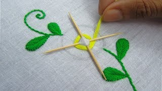 Download Hand Embroidery, Easy Flower Embroidery Trick with tooth pick Video