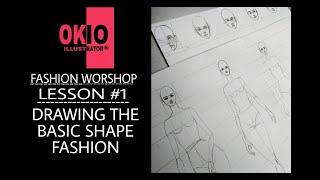 Download Hướng dẫn học vẽ dáng người cơ bản trong minh họa thời trang ''Illustration'' Video