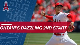 Download Ohtani flirts with perfection into 7th, strikes out 12 Video