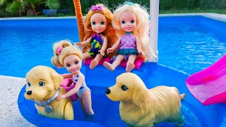 Download Elsa and Anna toddlers at the dog's birthday party Video