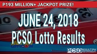 Download PCSO Lotto Results Today June 24, 2018 (6/58, 6/49, Swertres, STL & EZ2) Video