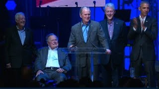Download Former Presidents speak at relief concert Video
